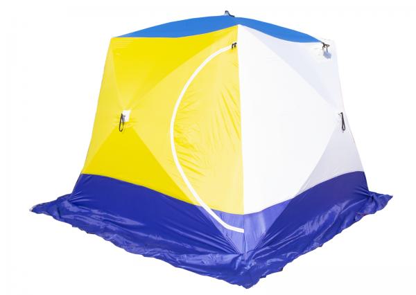 Палатка СТЭК КУБ-4 трёхслойная дышащая