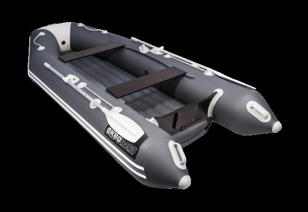 Лодка АКВА 3400 НДНД графит / светло-серый