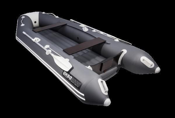 Лодка АКВА 3600 НДНД графит / светло-серый