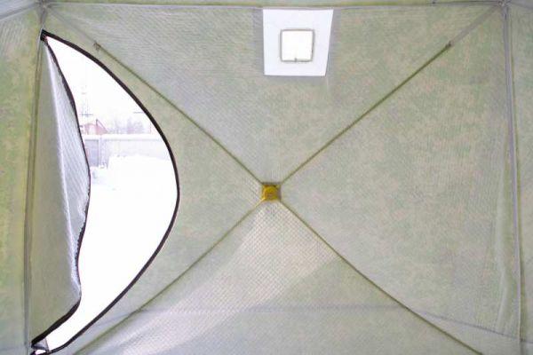 Палатка СТЭК КУБ-4 трёхслойная камуфляж c москитной сеткой